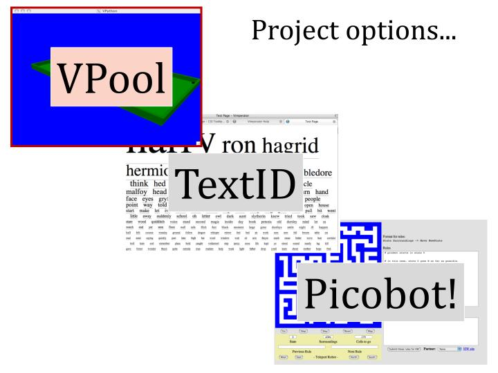 Project options...
