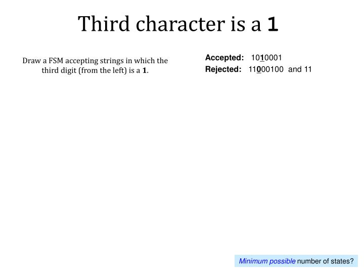 Third character is a