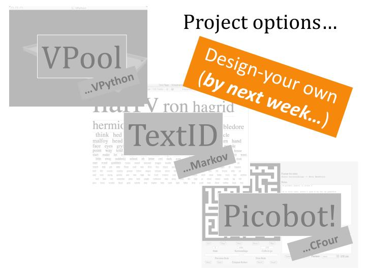 Project options…