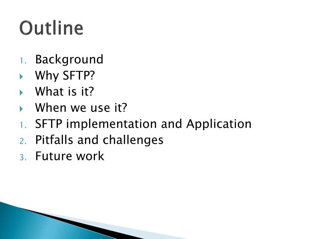 PPT - Secure File Transfer Protocol (SFTP) PowerPoint