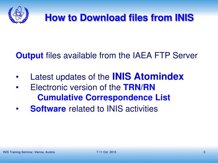 How to download files from inis