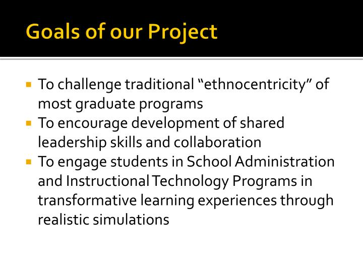 Goals of our Project