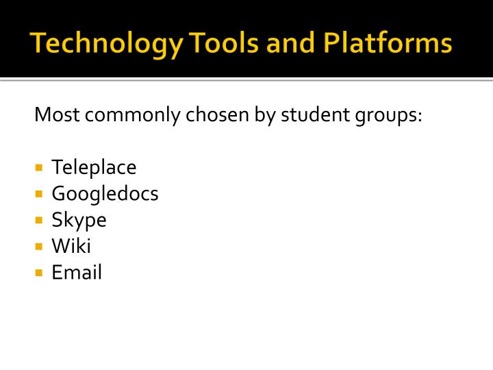 Technology Tools and Platforms
