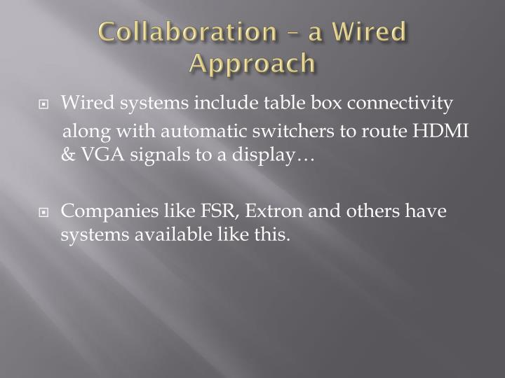 Collaboration – a Wired Approach