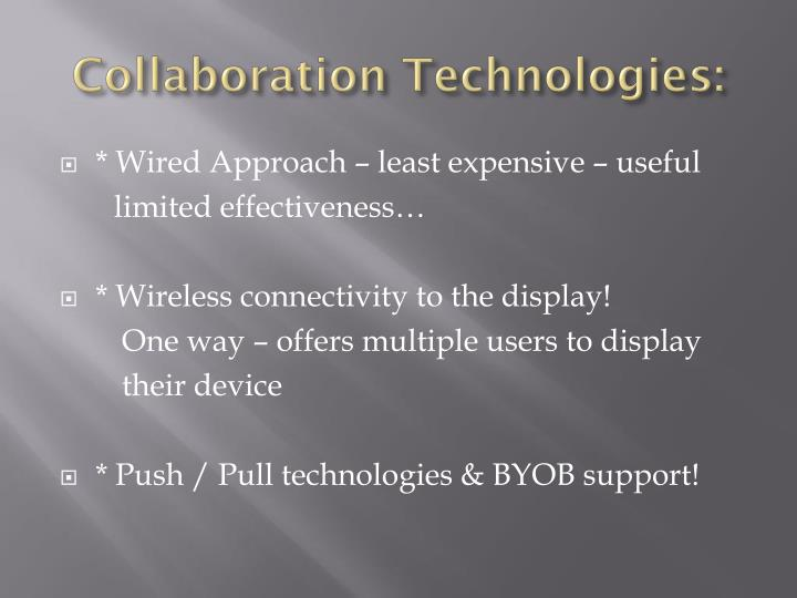 Collaboration Technologies: