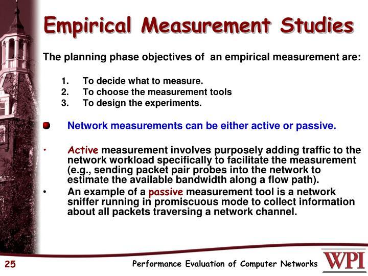 Empirical Measurement Studies