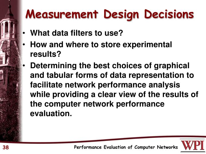 Measurement Design Decisions