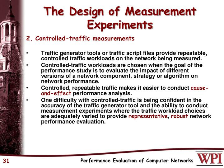 The Design of Measurement Experiments