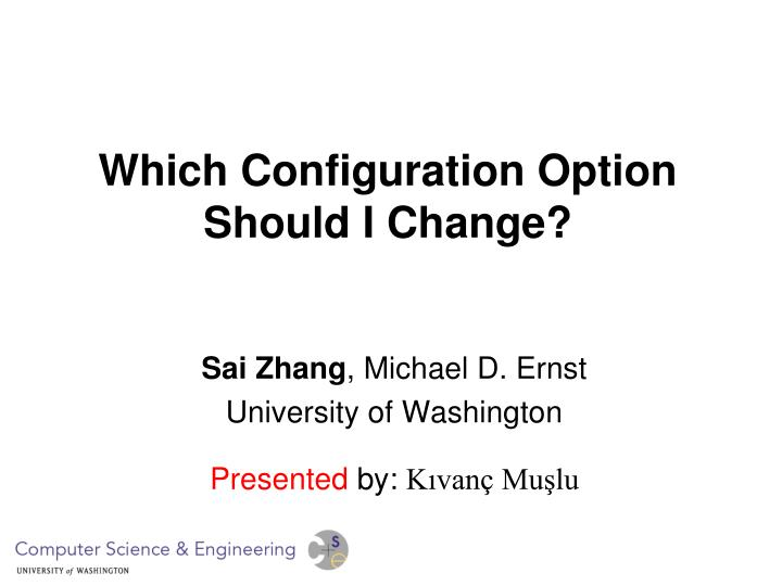 which configuration option should i change n.