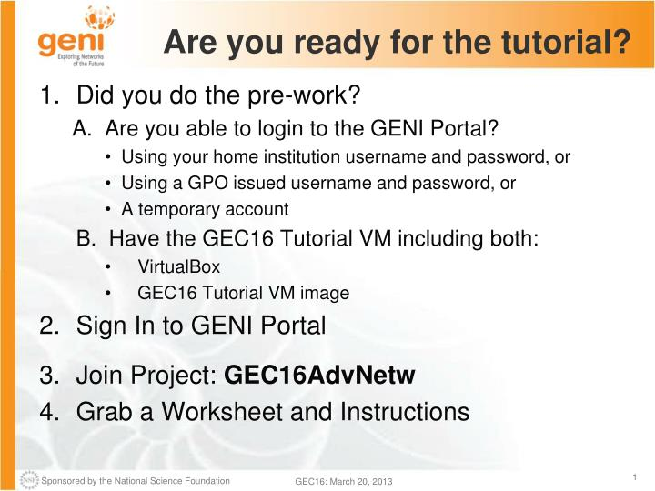 are you ready for the tutorial n.