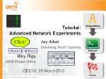 tutorial advanced network experiments