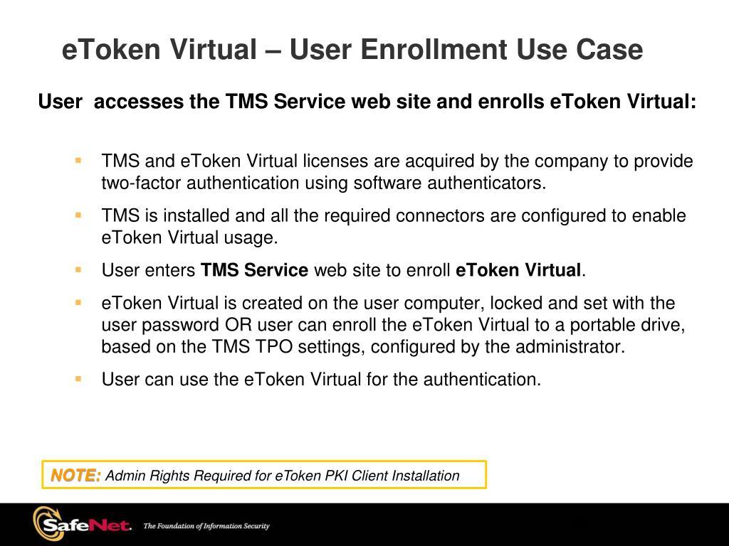 PPT - eToken TMS 5 0 CA PowerPoint Presentation - ID:1579802