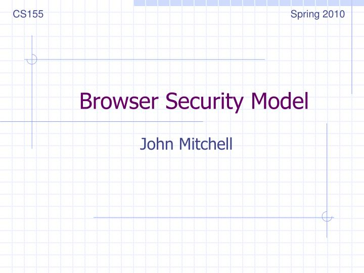 browser security model n.