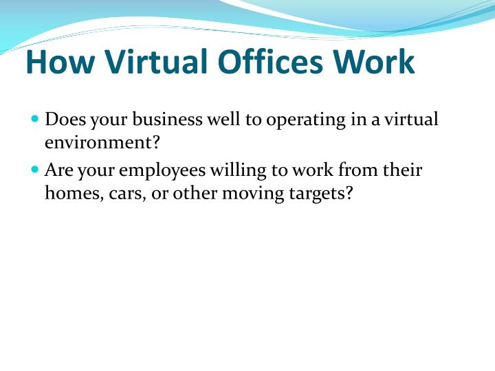 How virtual offices work