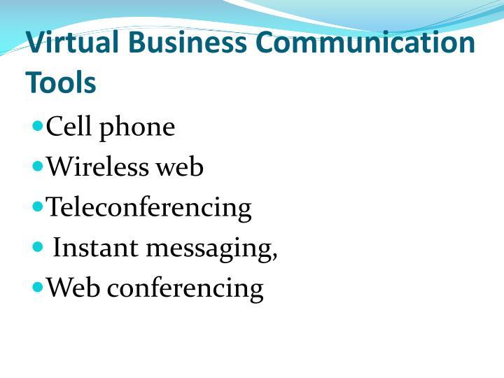 Virtual Business Communication Tools