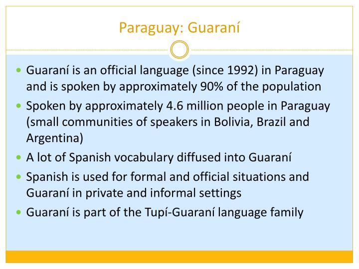 Paraguay: Guaraní