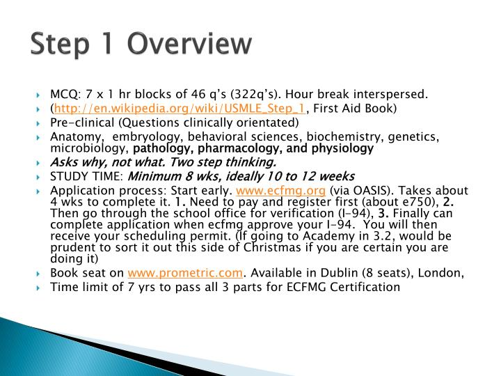 Step 1 Overview
