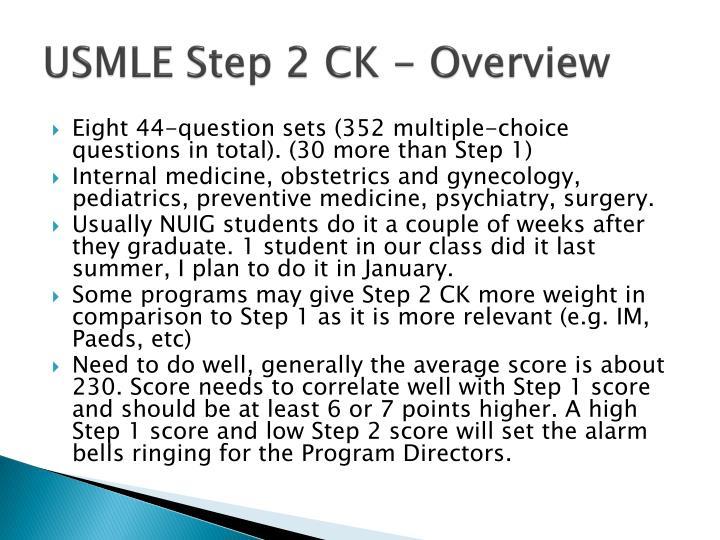 USMLE Step 2 CK - Overview