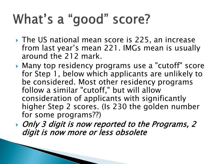 "What's a ""good"" score?"