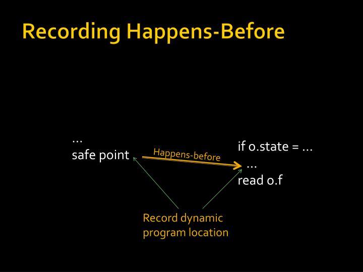 Recording Happens-Before