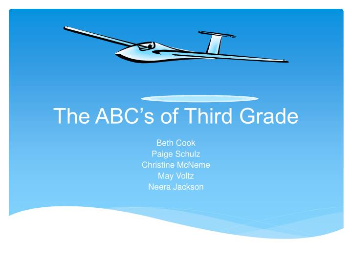 the abc s of third grade n.