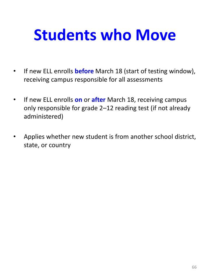 Students who Move
