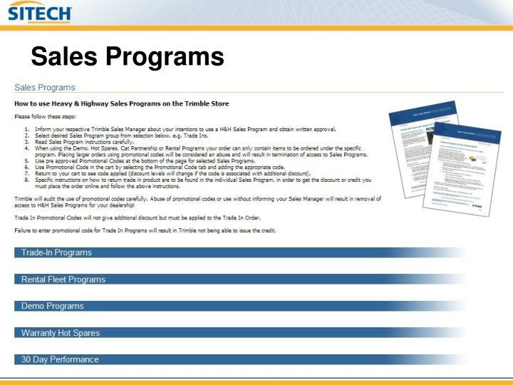 Sales Programs
