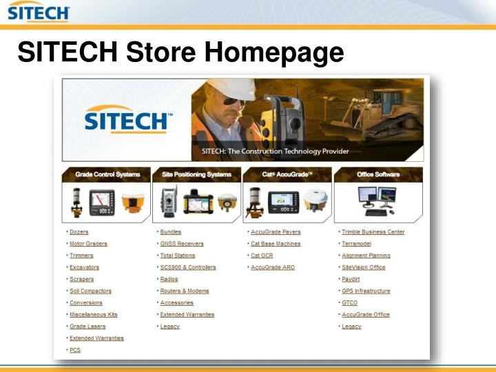 SITECH Store Homepage