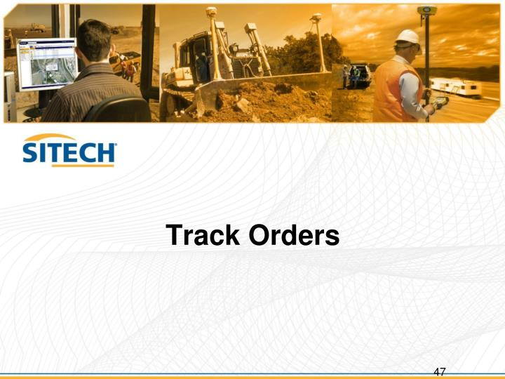 Track Orders