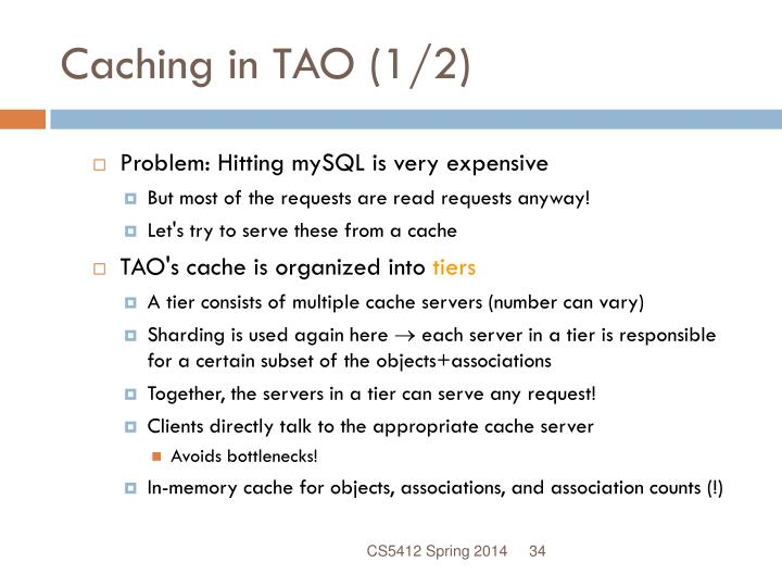 Caching in TAO (1/2)