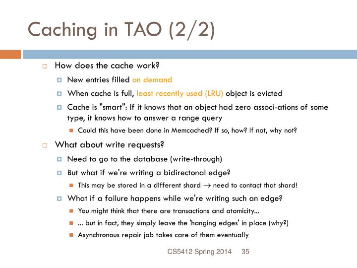 Caching in TAO (2/2)