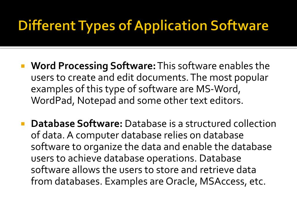 PPT - Application Software PowerPoint Presentation - ID:1580418