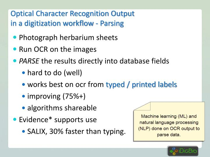 Optical Character Recognition Output