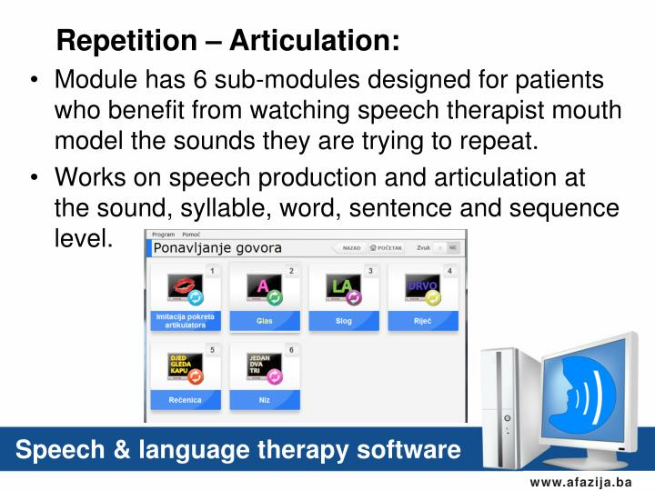 Repetition – Articulation: