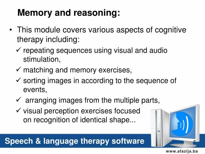 Memory and reasoning: