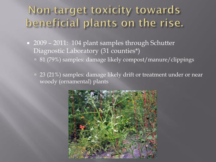 Non target toxicity towards beneficial plants on the rise