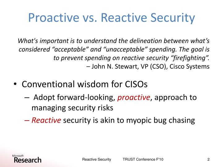 proactive vs reactive serial murder investigation In the most general sense, it is the polar opposite of reactive policing, which is characterized by randomized patrol, rapid response to calls for service, and retrospective investigations instead of waiting for a crime to transpire, proactive policing entails striving to prevent crime before it ever comes to fruition.