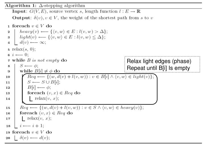 Relax light edges (phase) Repeat until B[