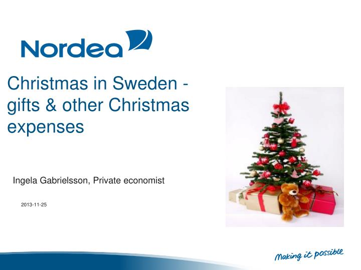 christmas in sweden gifts other christmas expenses n.