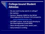 college bound student athletes