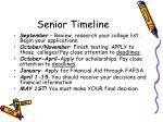 senior timeline