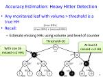accuracy estimation heavy hitter detection