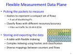 flexible measurement data plane