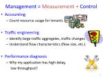 management measurement control