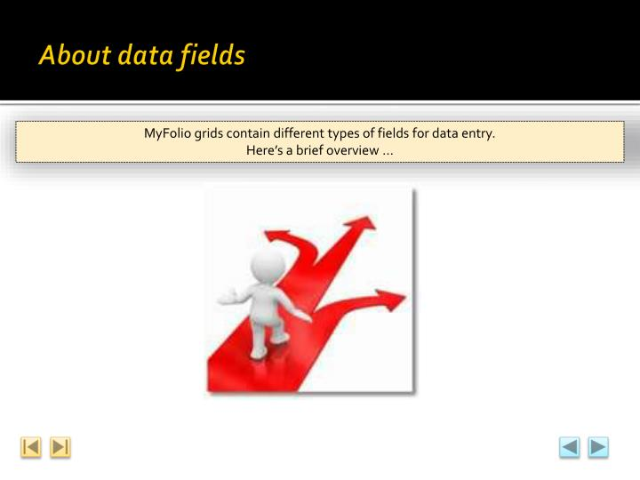 About data fields