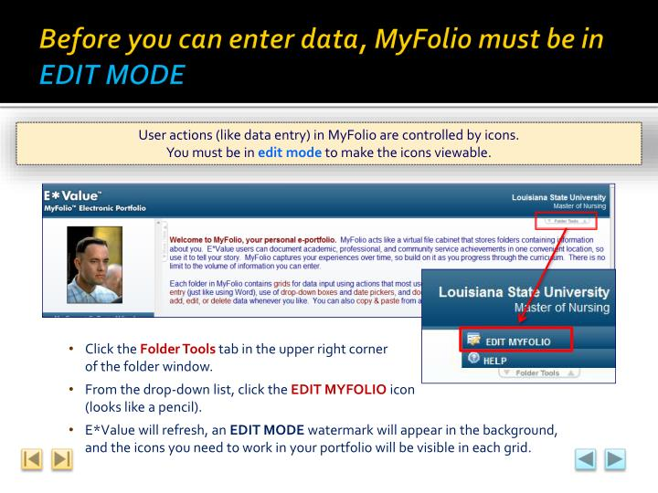 Before you can enter data,