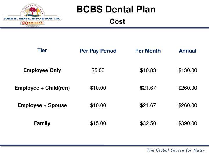 BCBS Dental Plan