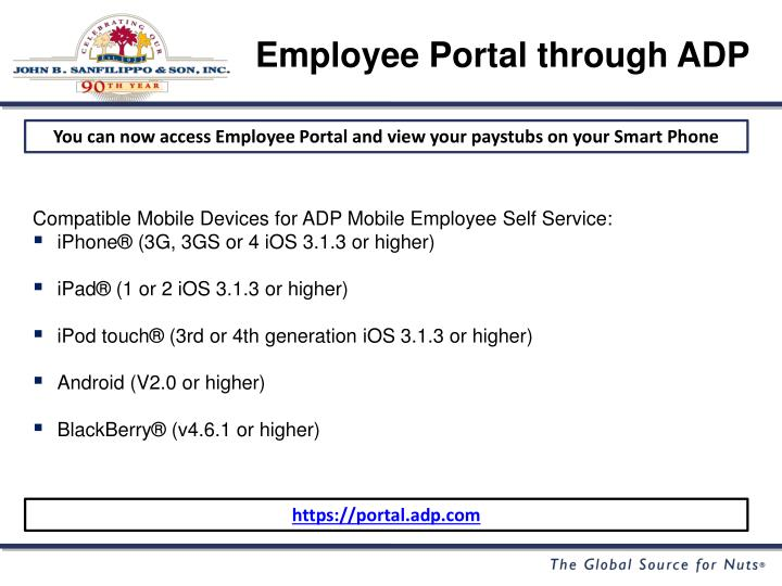 Employee Portal through ADP