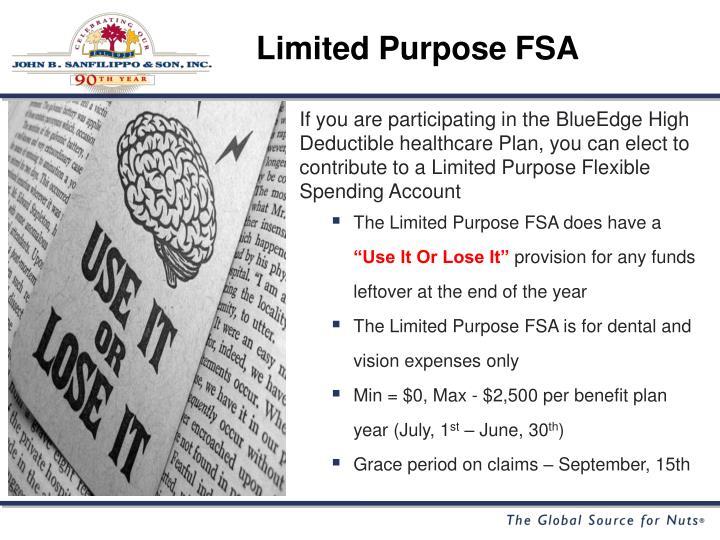Limited Purpose FSA