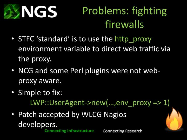 Problems: fighting firewalls